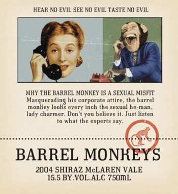RedHeads Studio Barrel Monkeys Shiraz