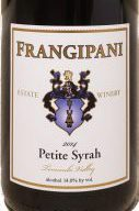 Frangipani Estate Winery Petite Syrah (Sirah)